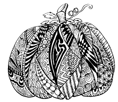 pumpkin coloring pages for adults adult coloring page autumn pumpkin 12