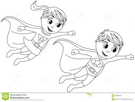 superhero body outline coloring pages