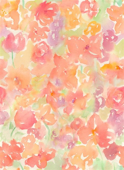 watercolor flower pattern wallpaper watercolor abstract floral pattern and loose flowers
