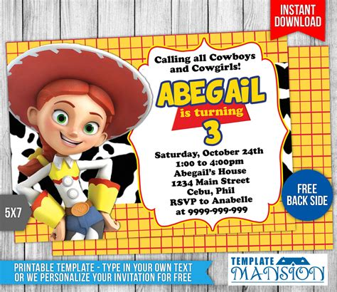 toy story birthday invitation template 5 by