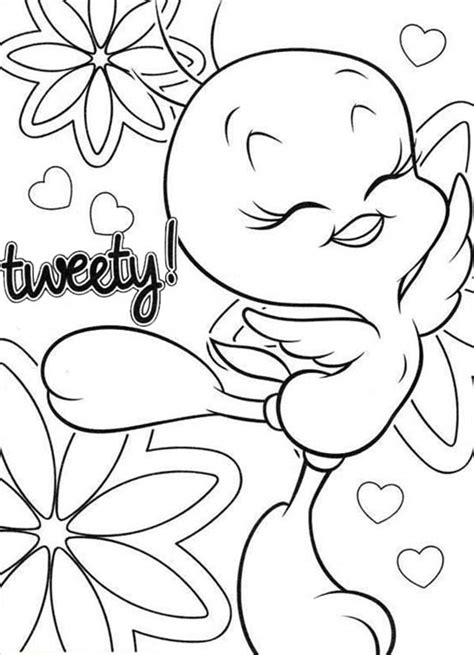 Tweety Coloring Pages by 79 Tweety Bird Coloring Pages Images Trendy Tweety