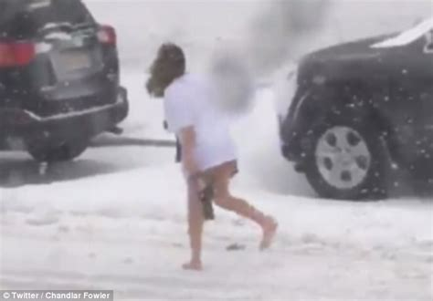 worst blizzard ever recorded woman spotted sneaking home in west virginia snowstorm