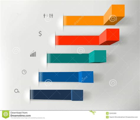 stepping design templates vector modern business steps to success charts and stock
