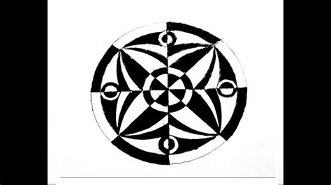 R Drawing Circle by How To Draw Geometric Design In Circle Step By Step