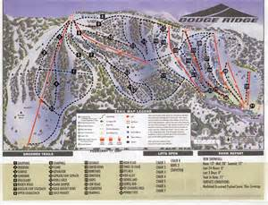 dodge ridge ski map california usa america