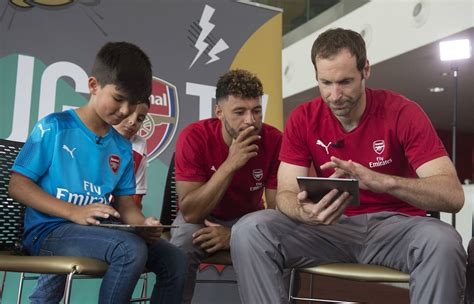 arsenal official jgs v players the jg app edition video news junior