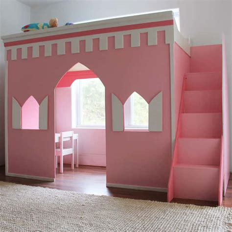 Castle Loft Bed How To Build A Princess Castle Loft Bed Remodelaholic