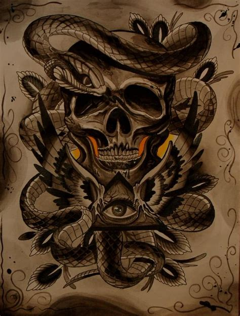 snake eyes tattoo skull snake eye flash snake