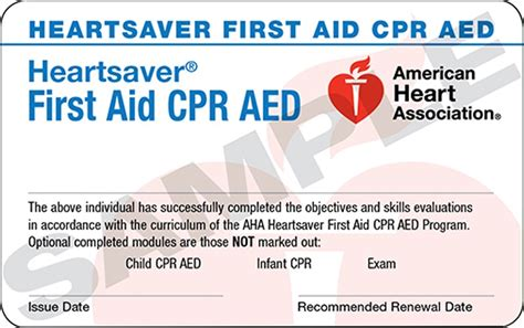 heartsaver cpr aed card template heartsaver 174 aid cpr aed combo breathe cpr