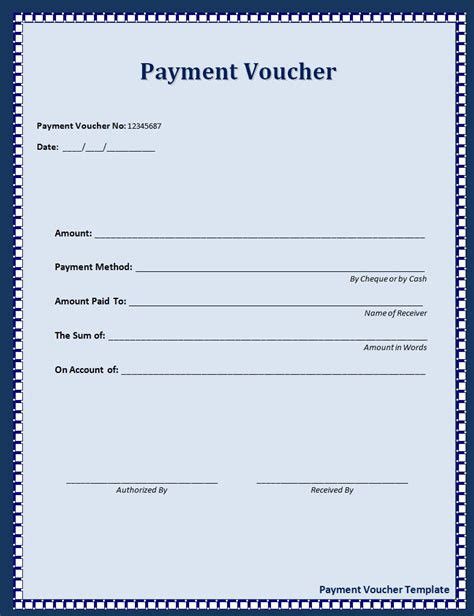 template of voucher payment voucher format free word s templates