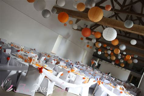Decoration Poisson by D 233 Coration Mariage Th 232 Me Poissons Rouges Orange Gris