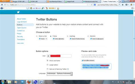 membuat follow twitter di blog cara membuat tombol follow twitter di blog makan info