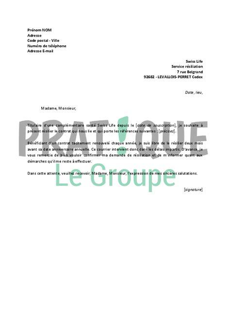 Lettre De Résiliation Mobile Avant Fin D Engagement Lettre De R 233 Siliation Swiss Pratique Fr