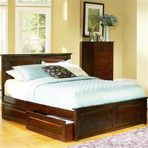 raised platform bed raised platform bed carriage raised panel cal king wood