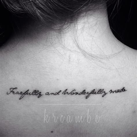 fearfully and wonderfully made tattoo fearfully and wonderfully made tattoos