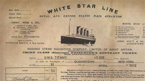28 facts you did not know about the titanic tragedy rexflip - Titanic Boat Tickets