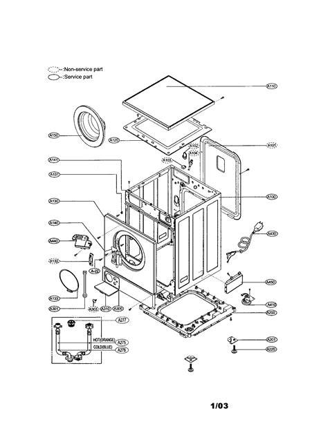lg dryer parts diagram front load washers lg front load washer parts diagram