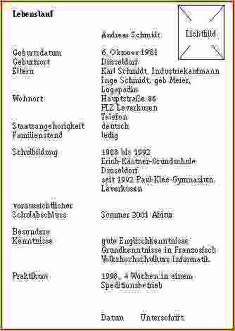 Handgeschriebener Lebenslauf Ausbildung Muster 4 Handgeschriebener Lebenslauf Muster Questionnaire