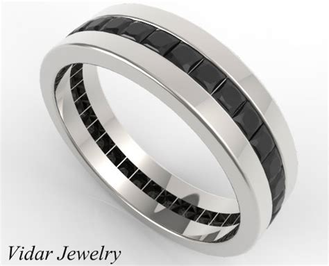 s princess cut eternity black diamonds wedding