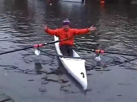 scull of boat edon ts515 training scull rowing boat youtube