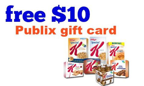 Publix Gift Cards Online - 10 special k rebate free special k products at publix southern savers