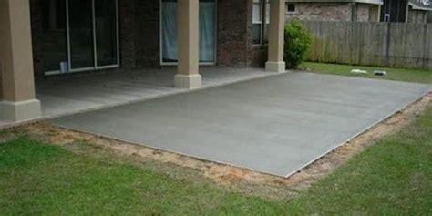 poured concrete patio pouring concrete general info tips local contractors