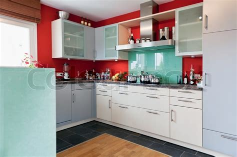 Modern house interior of modern kitchen room stock photo colourbox