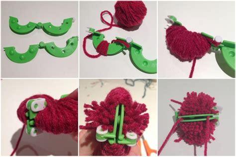 Delightful Christmas Tie #1: Using-a-pom-pom-maker.jpg