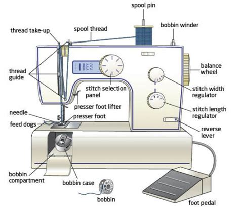 swing machine parts sewing school lesson 4 learning about your sewing machine