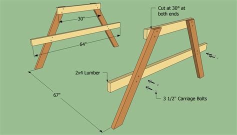 how to build a wooden picnic table howtospecialist how to build step by step diy plans