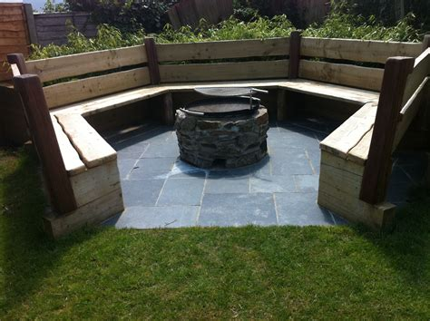 seating area and pit garden maintenance and