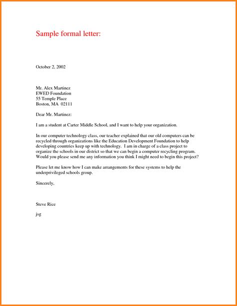Formal Letter Format Kenya formal letter format how to format cover letter