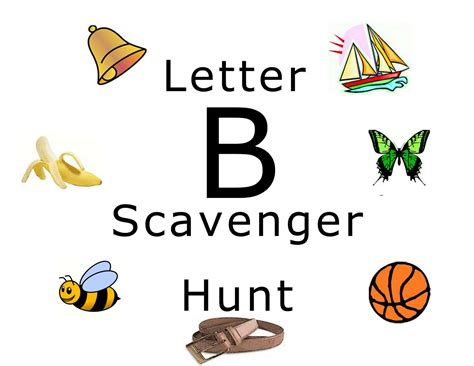 up letter scavenger hunt gallery for pictures of things that start with the