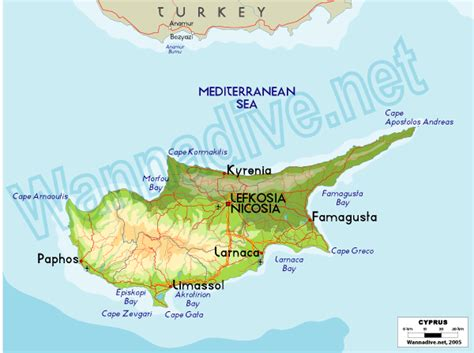 middle east map nicosia cyprus wannadive net world dive site atlas