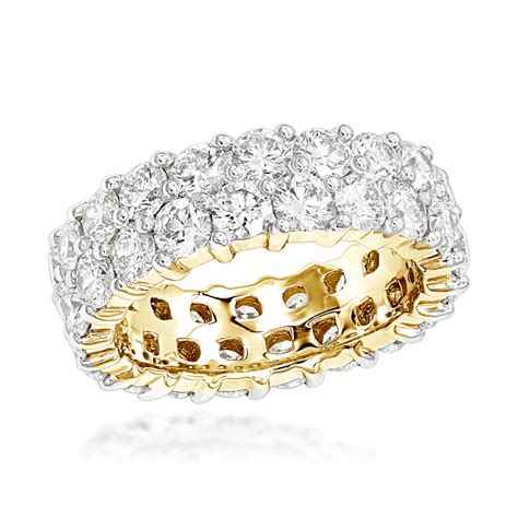 gold diamond eternity band ct