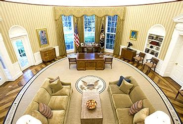 oval office wallpaper images obama s newlook oval office rediff com news