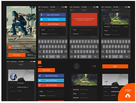 ios app design kit top 35 free mobile ui kits for app designers 2018 colorlib