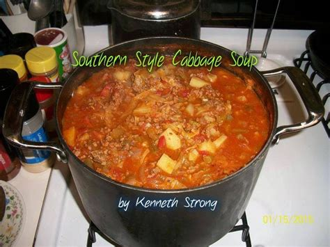 Hamburger Detox Soup by Southern Style Cabbage Soup Food Freeze