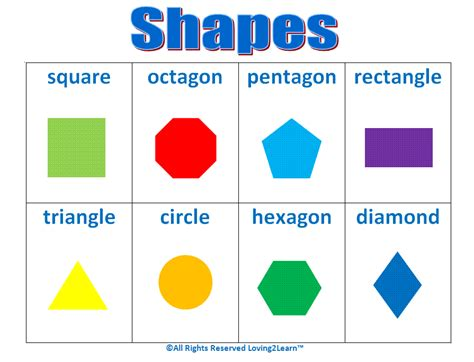 printable math shapes charts the gallery for gt geometric shapes chart