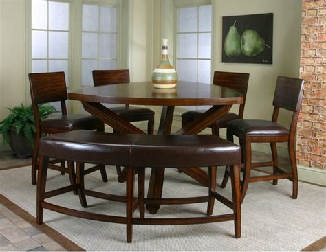 counter height dining table with bench cramco shiraz 6 counter height dining set with bench