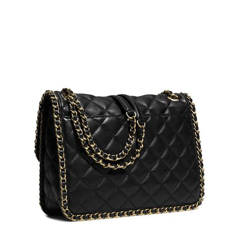 Leather Quilted by Michael Kors Carine Large Quilted Leather Shoulder Bag In
