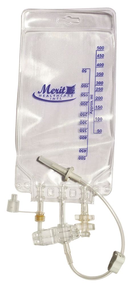 meriteva bag 500ml plastic empty container tpn bag
