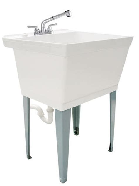 utility sink faucet menards tuscany laundry tub kit with pullout at menards 174