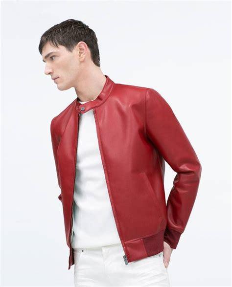 chaquetas de cuero hombre zara chaqueta cuero roja hombre zara