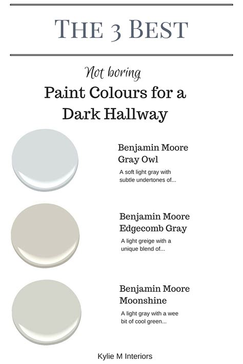 the 3 best not boring paint colours for a hallway or