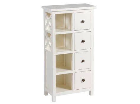 mueble auxiliar blanco  estantes  cajones deosa blog