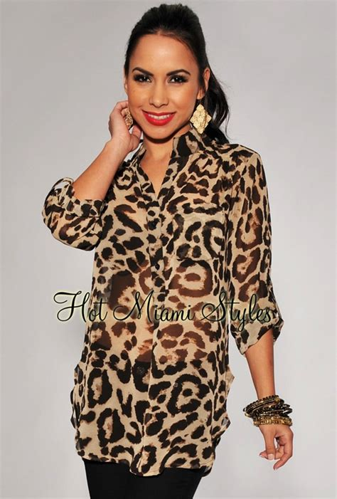 Animal Print Blouse by Sheer Leopard Print Blouse
