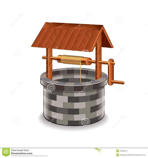 Asian House Plans water well isolated on white vector stock vector image