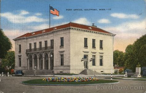 post office gulfport ms postcard