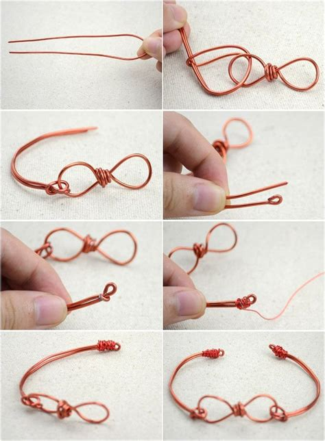 Handmade Jewellery Step By Step - infinity wire bracelet 183 how to make a